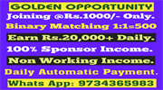 JOIN 1000 BINARY 500 DAILY CAPPING 20000 DAILY PAYMENT - 9333727955